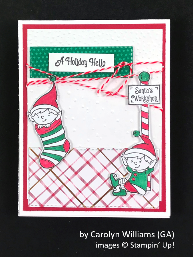 by Carolyn Williams, Brian's Holiday One-for-One Swap, Stampin' Up!