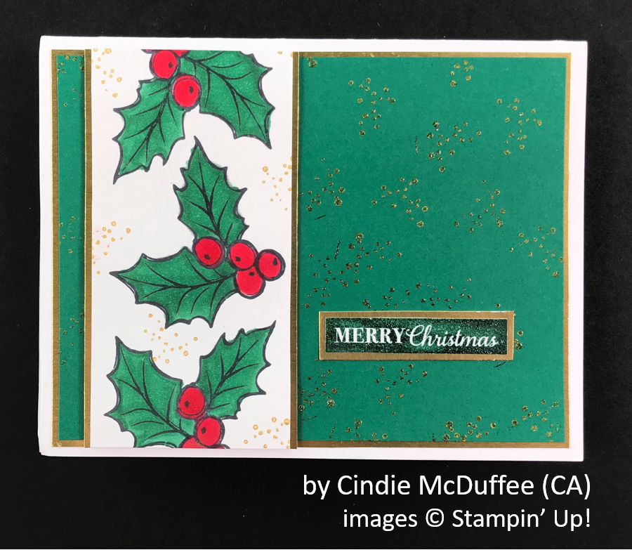by Cindie McDuffee, Brian's Holiday One-for-One Swap, Stampin' Up!
