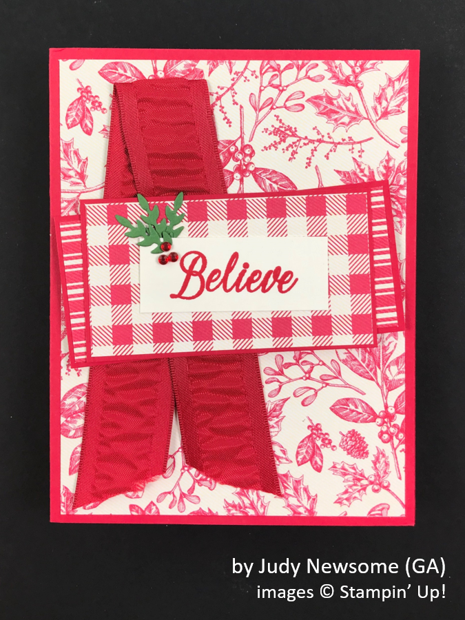 by Judy Newsome, Brian's Holiday One-for-One Swap, Stampin' Up!