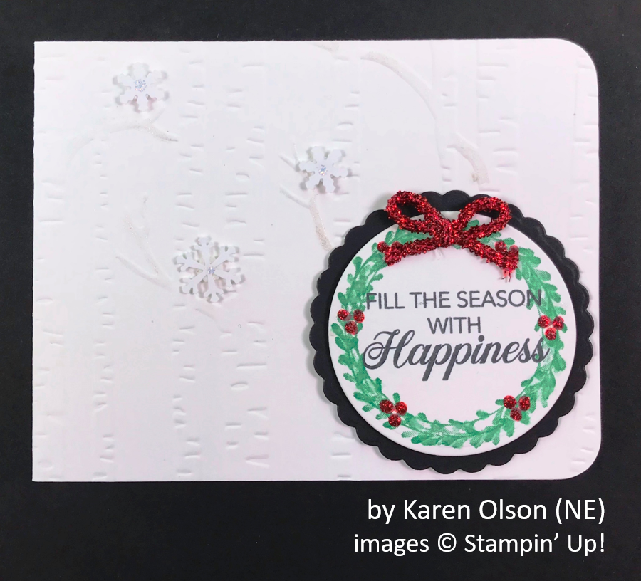 by Karen Olson, Brian's Holiday One-for-One Swap, Stampin' Up!