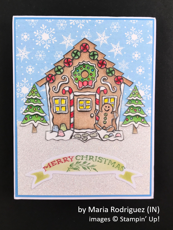by Maria Rodriquez, Brian's Holiday One-for-One Swap, Stampin' Up!