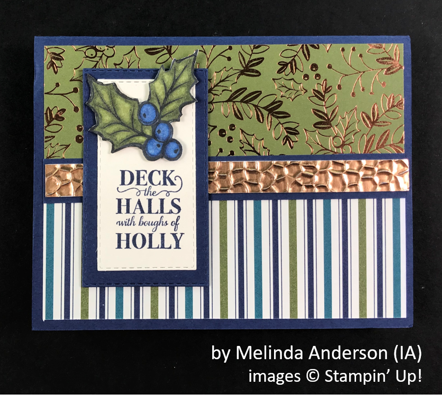 by Melinda Anderson, Brian's Holiday One-for-One Swap, Stampin' Up!