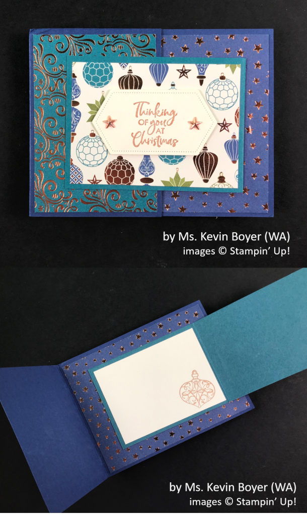 by Ms. Kevin Boyer, Brian's Holiday One-for-One Swap, Stampin' Up!