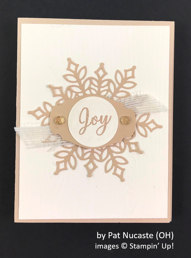 by Pat Nucaste, Brian's Holiday One-for-One Swap, Stampin' Up!