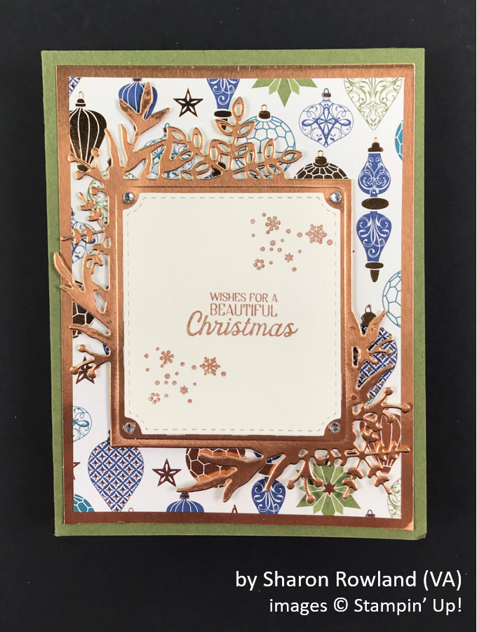 by Sharon Rowland, Brian's Holiday One-for-One Swap, Stampin' Up!