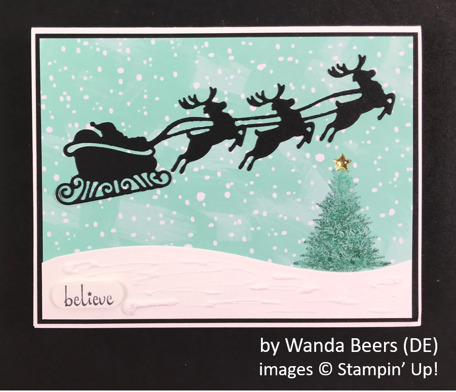 by Wanda Beers, Brian's Holiday One-for-One Swap, Stampin' Up!