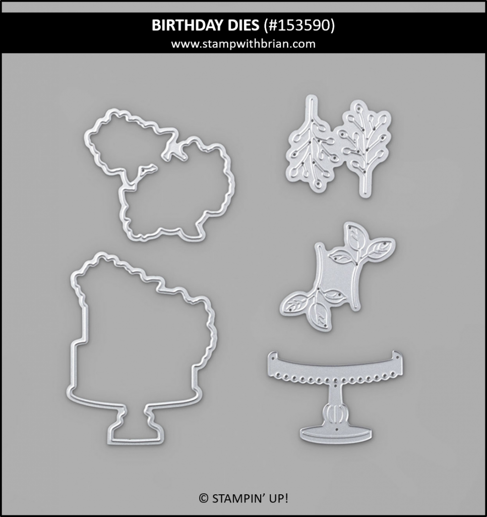 Birthday Dies, Stampin Up! Product Coordination 153590