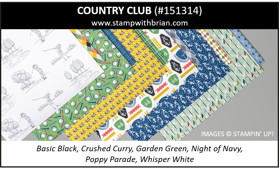 Country Club Designer Series Paper, Stampin Up! 151314