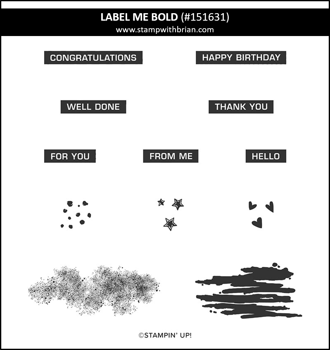 Label Me Bold, Stampin' Up! 151631
