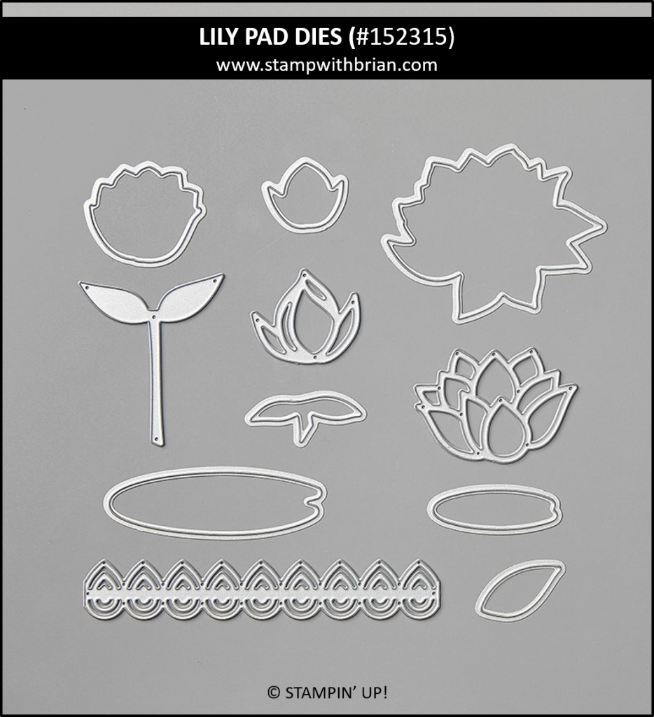 Lily Pad Dies, Stampin' Up! 152315