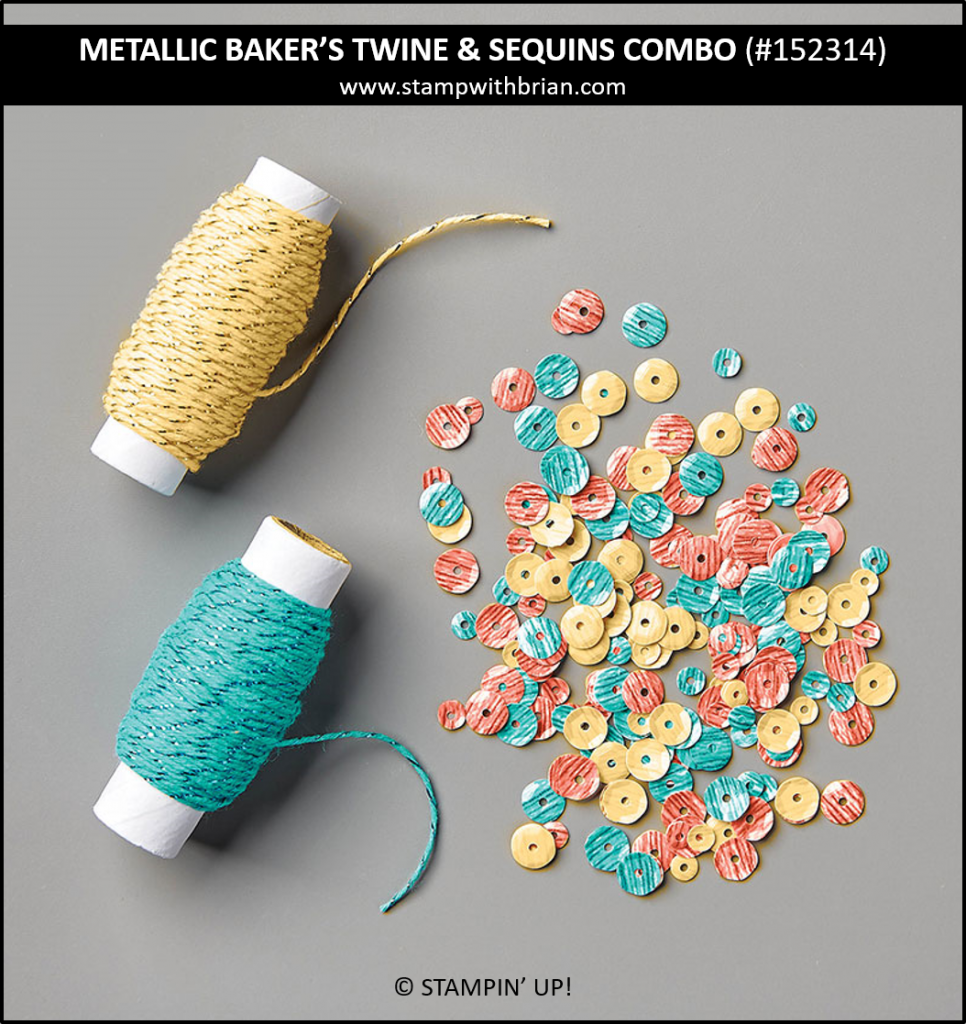Metallic Baker's Twine & Sequins Combo, Stampin Up! 152314