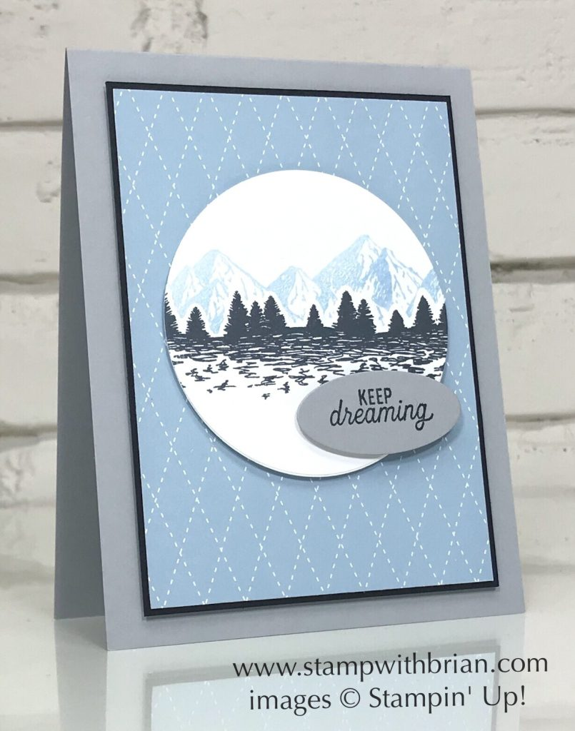 Mountain Air Bundle, Silhouette Scenes, Stampin Up!, Brian King