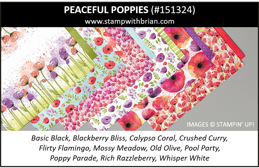 Peaceful Poppies Designer Series Paper, Stampin' Up! 151324