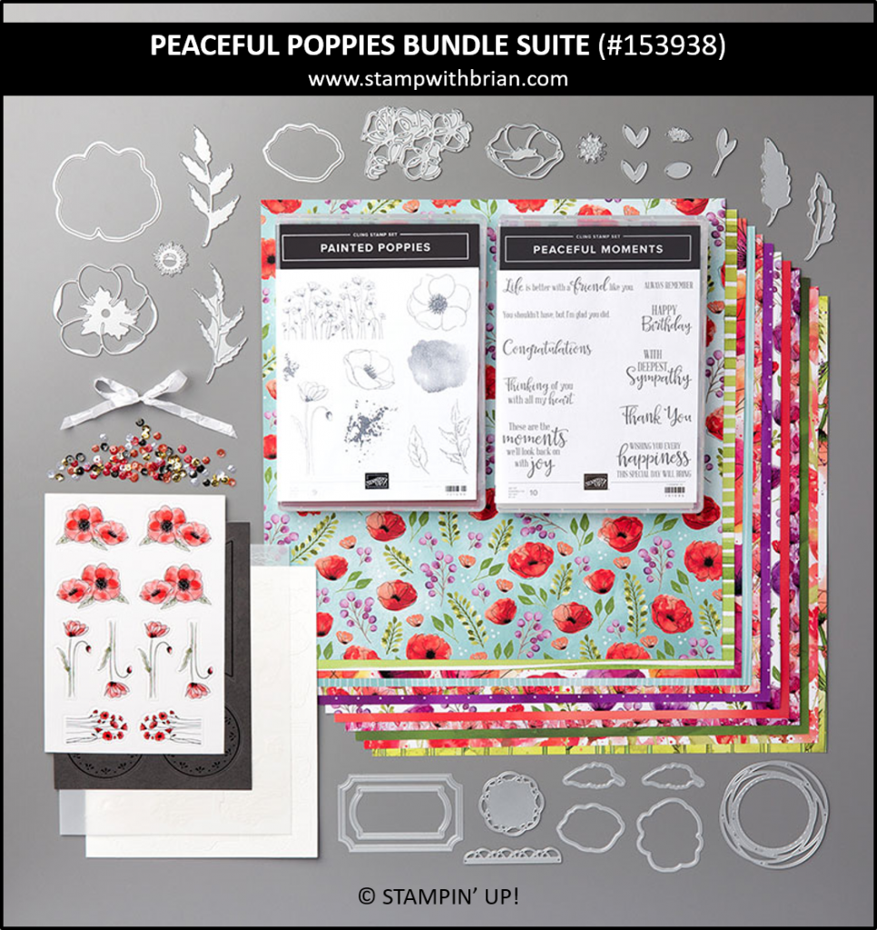 Peaceful Poppies Suite Bundle, Stampin Up! 153938
