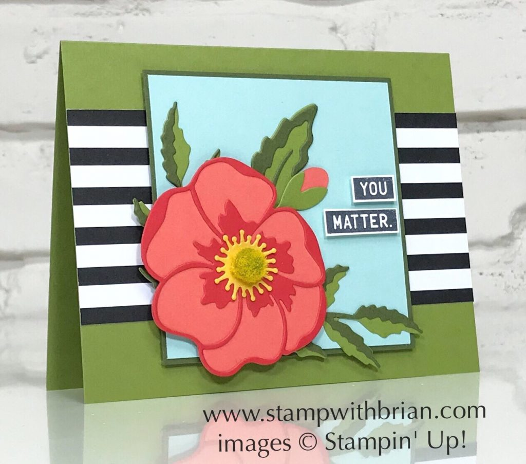 Poppy Moments Dies, Around the Corner, Stampin Up!, Brian King