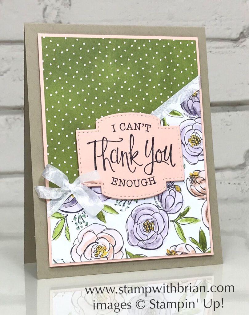 So Sentimental Bundle, Best Dressed Designer Series Paper, Stampin Up!, Brian King, thank you card