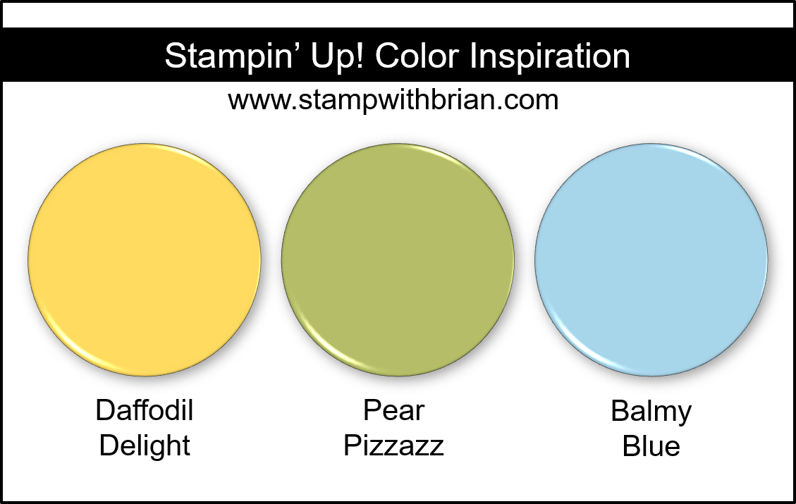 Stampin Up! Color Inspiration - Daffodil Delight, Pear Pizzazz, Balmy Blue