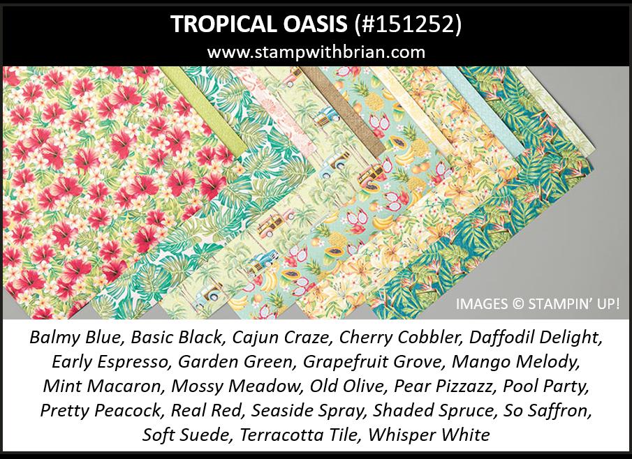 Tropical Oasis Designer Series Paper, Stampin' Up! 151252