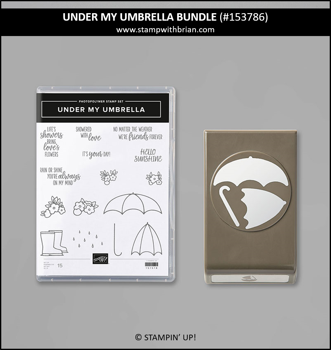 Under My Umbrella Bundle, Stampin Up! 153786