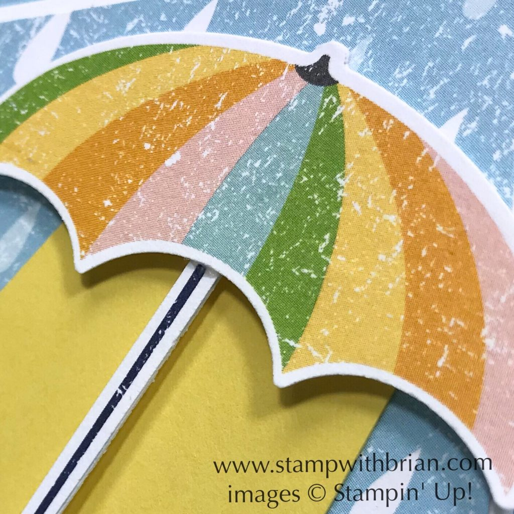 Under My Umbrella, Pleased as Punch Designer Series Paper, Stampin Up!, Brian King