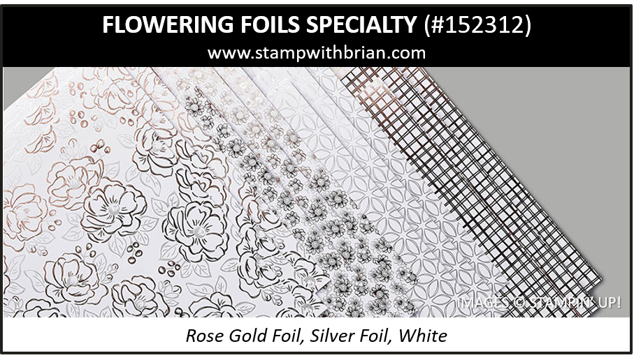 Flowering Foils Specialty Designer Series Paper, Stampin Up! 152312