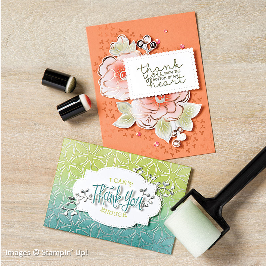 Flowering Foils Specialty, Stampin Up! samples