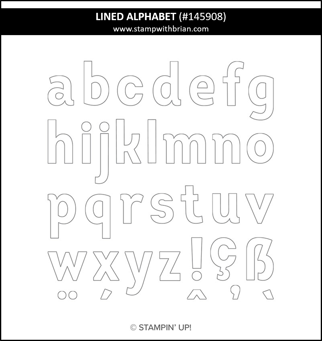 Lined Alphabet, Stampin Up!, 145908