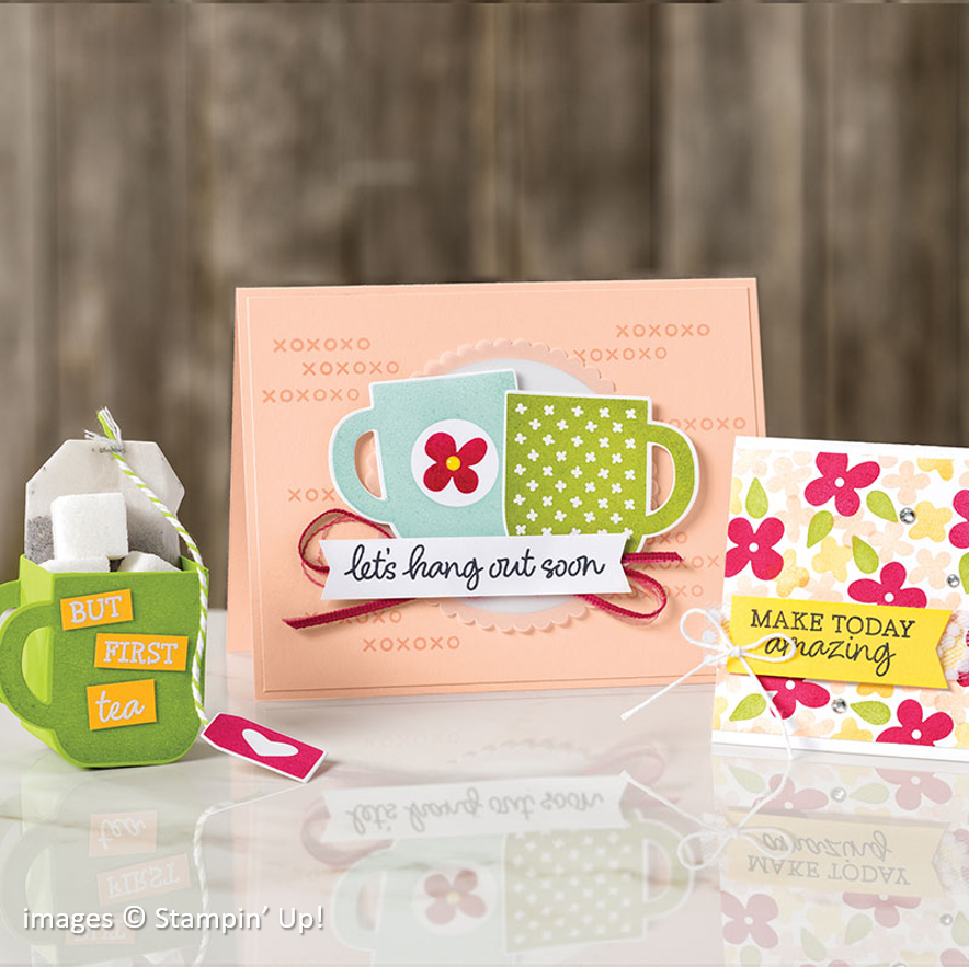 Rise & Shine, Stampin Up! samples