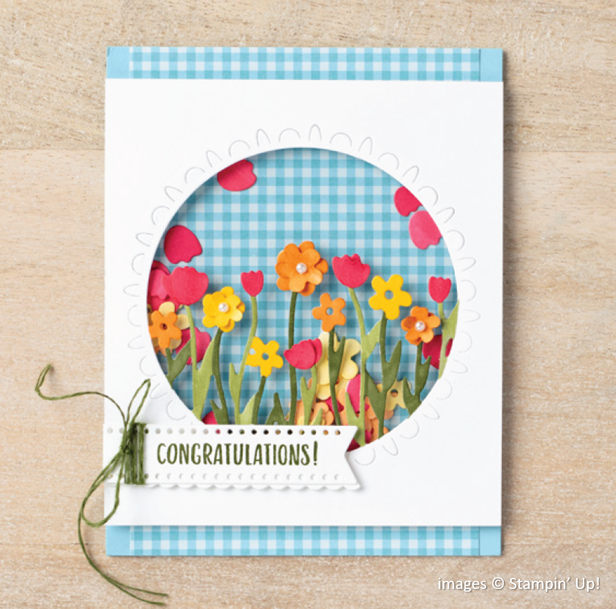 Sending Thoughts, Sending Flowers Dies, Stampin Up!