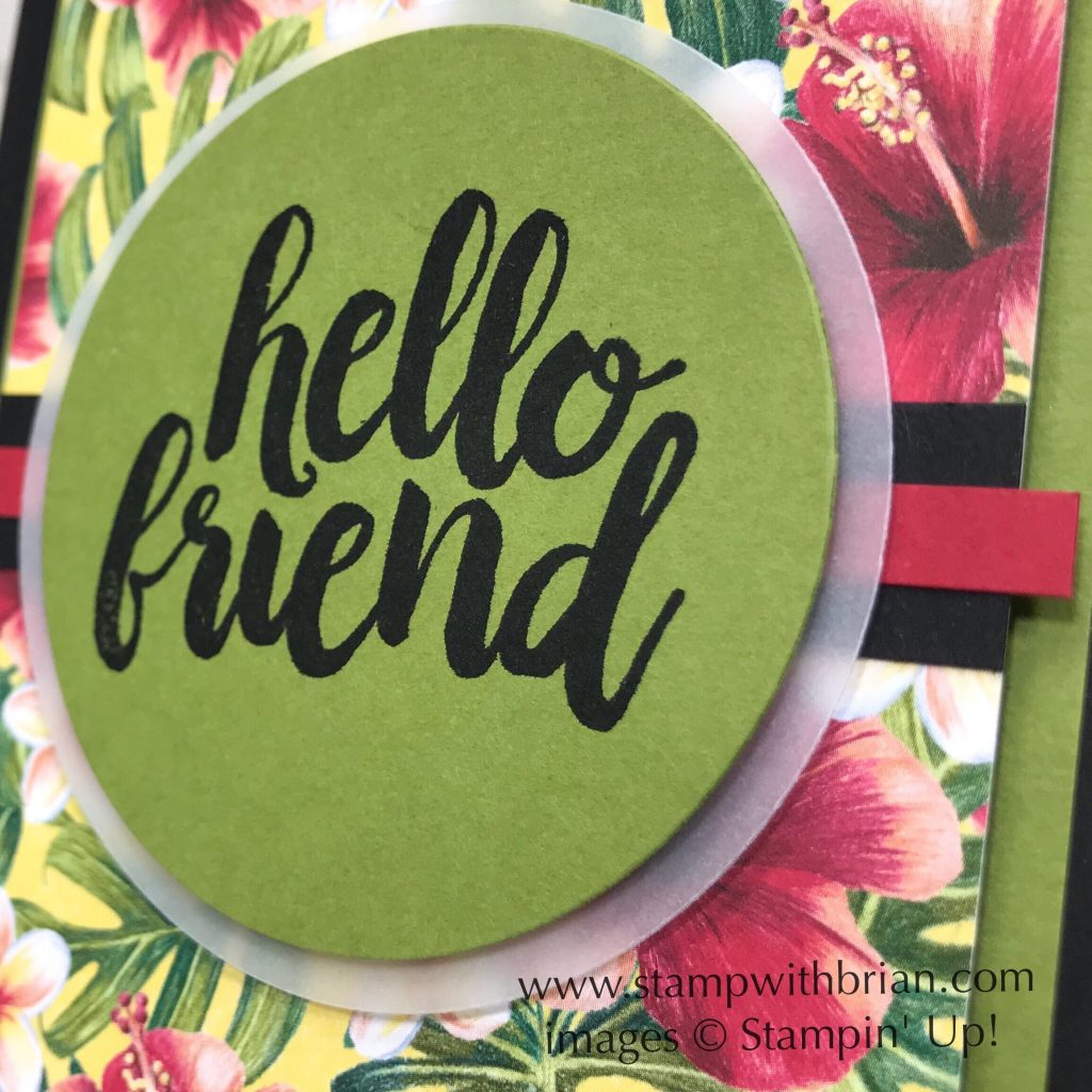 Seriously the Best, Tropical Oasis Designer Series Paper, Stampin Up!, Brian King