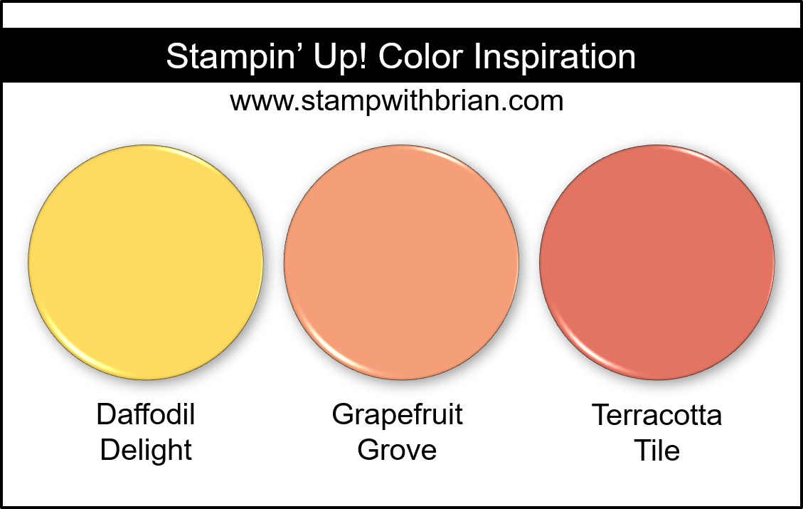 Stampin Up! Color Inspiration - Daffodil Delight, Grapefruit Grove, Terracotta Tile