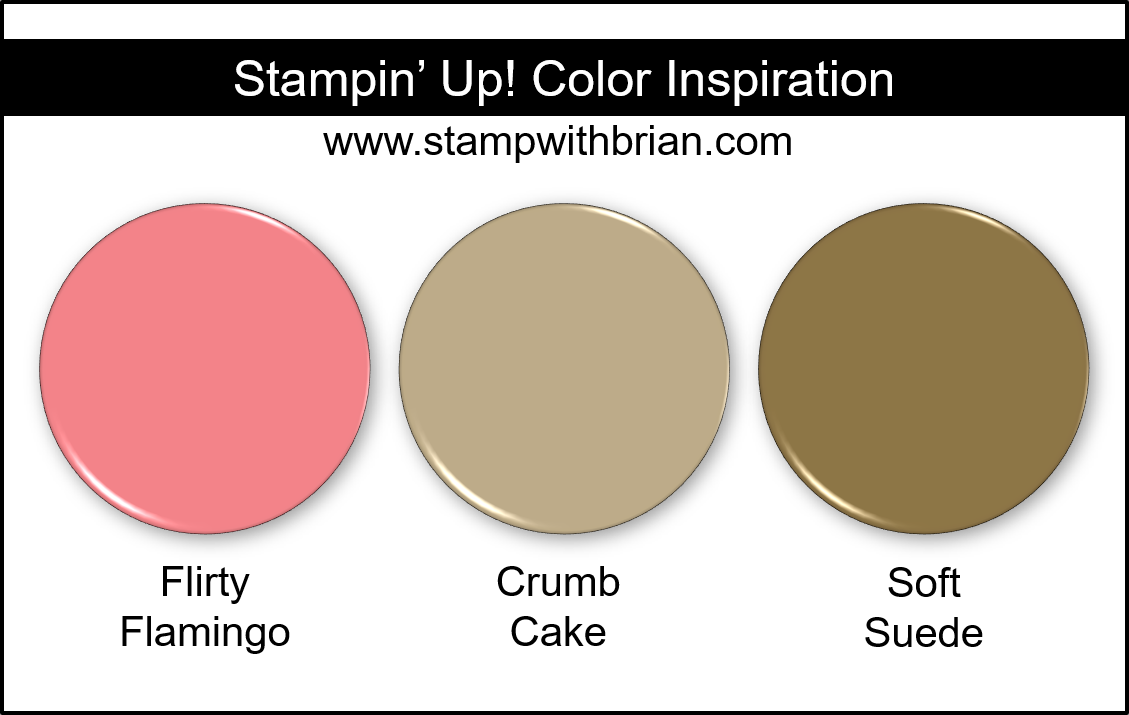 Stampin Up! Color Inspiration - Flirty Flamingo, Crumb Cake, Soft Suede