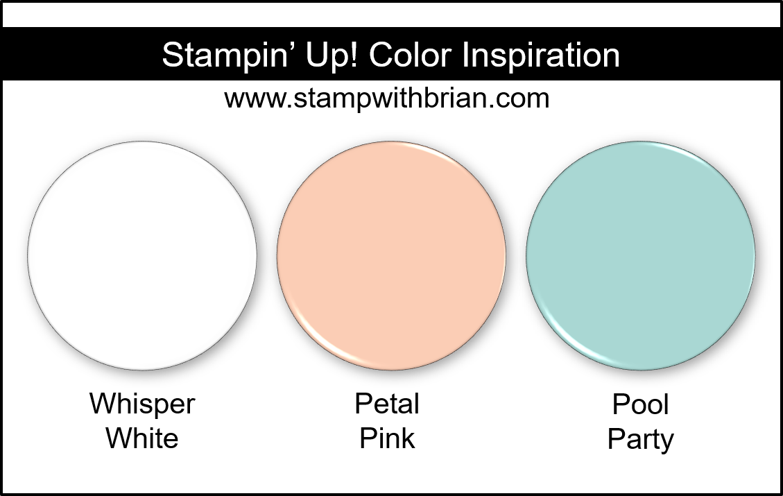 Stampin Up! Color Inspiration - Whisper White, Petal Pink, Pool Party