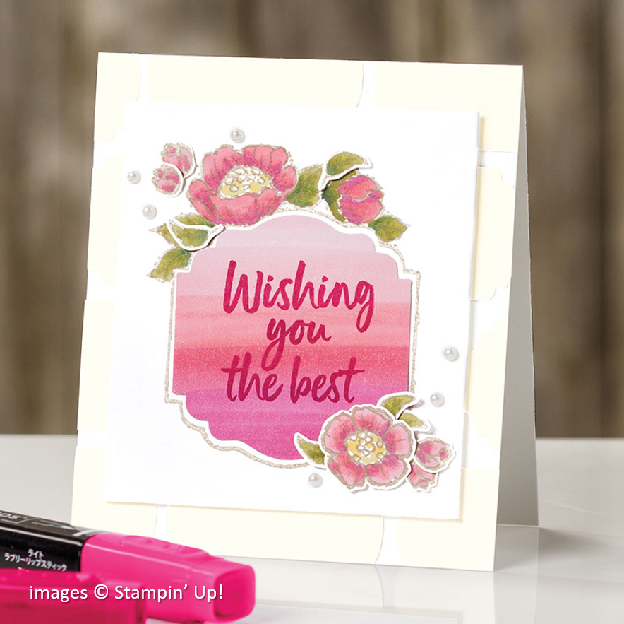 Tags in Bloom, Stampin Up! samples
