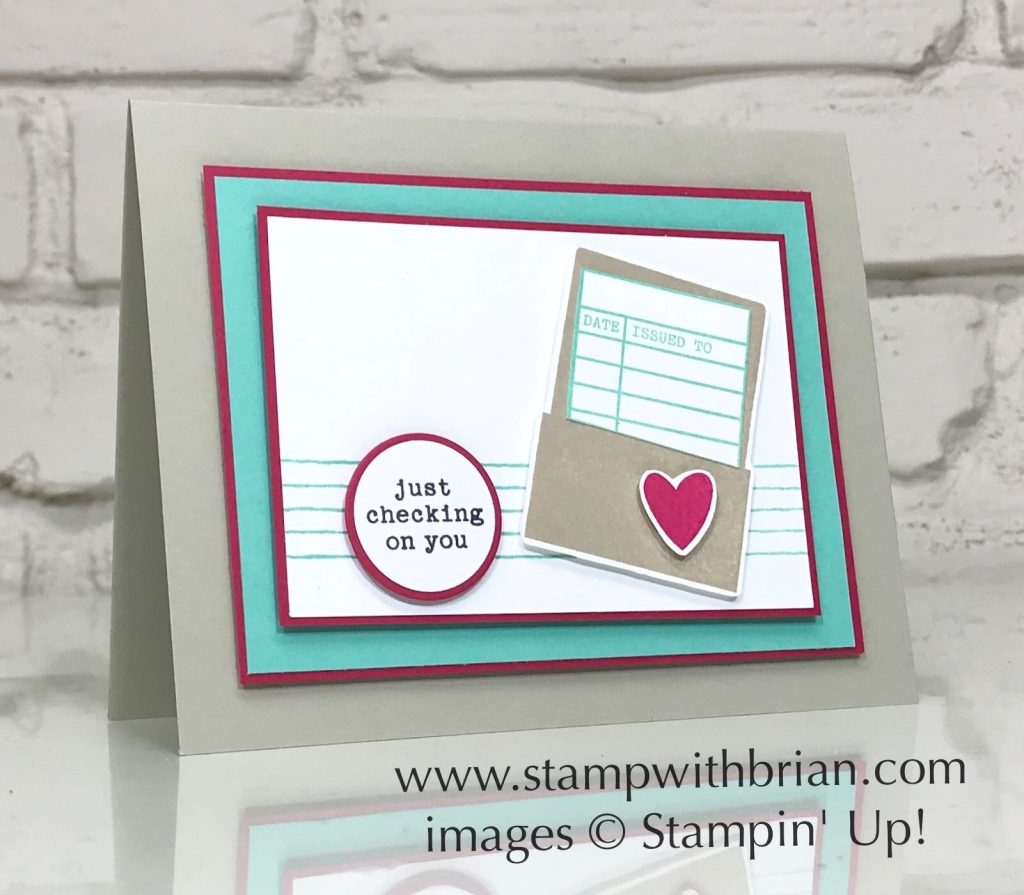 Check You Out, Music From the Heart, Stampin Up!, Brian King