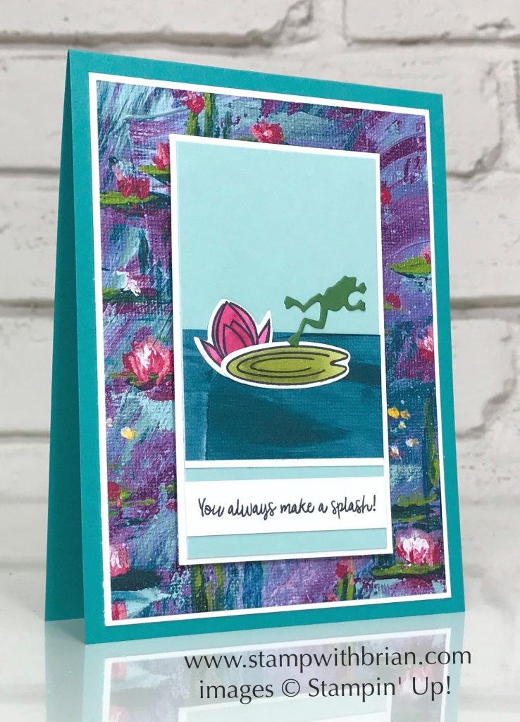 Lovely Lily Pad, Make a Splash, Dockside Dies, Stampin Up!, Brian King