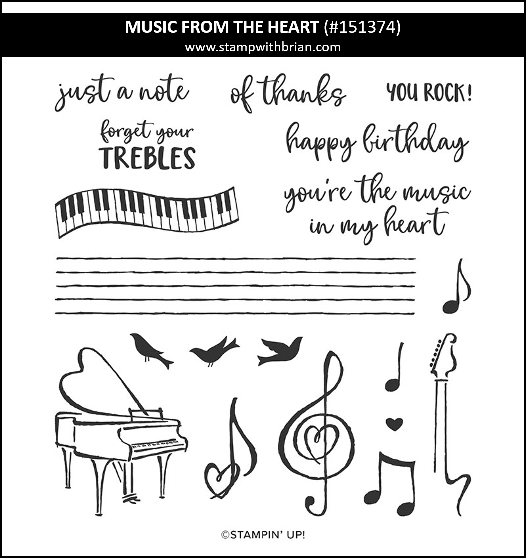 Music from the Heart, Stampin Up! 151374
