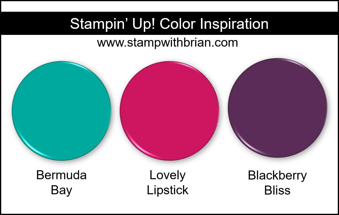 Stampin Up! Color Inspiration - Bermuda Bay, Lovely Lipstick, Blackberry Bliss