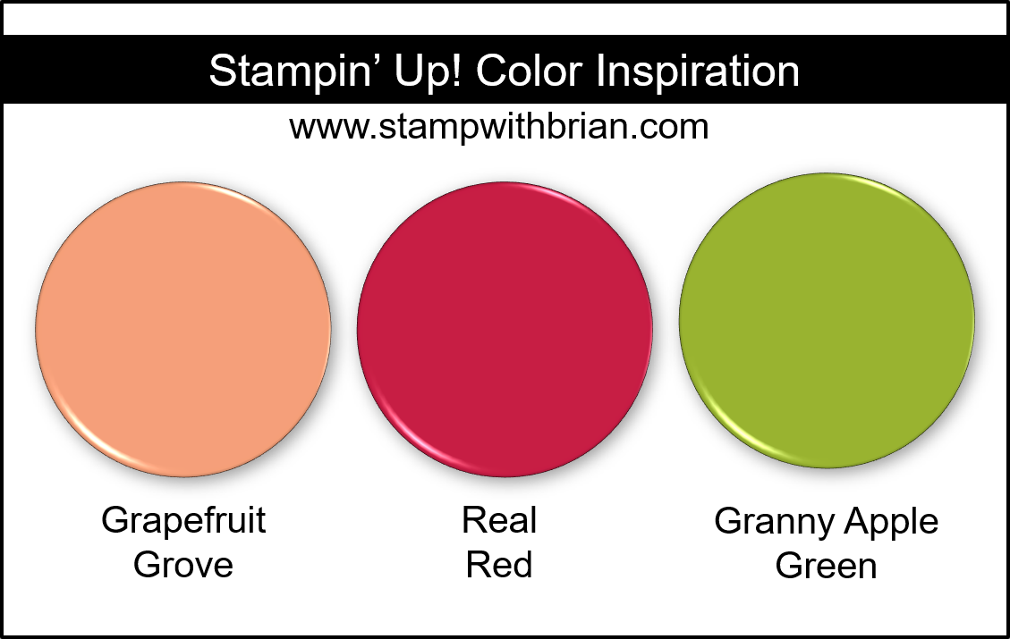 Stampin Up! Color Inspiration - Grapefruit Grove, Real Read, Granny Apple Green