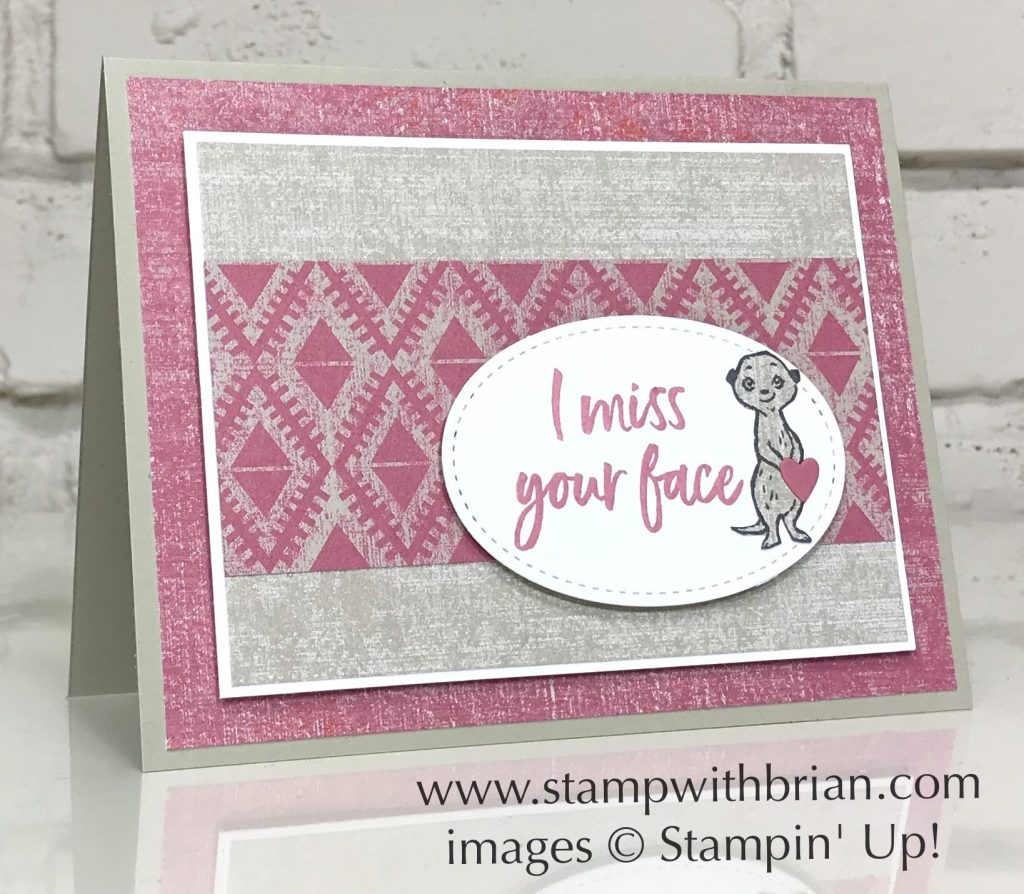 Tags in Bloom, The Gang's All Meer, Woven Threads Designer Series Paper, Stampin Up!, Brian King