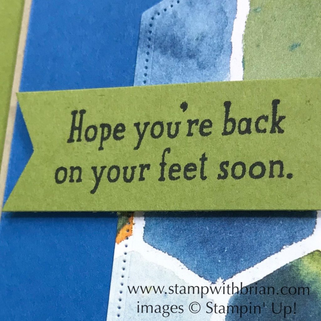 Back on Your Feet, See a Silhouette, Stampin Up!, Brian King