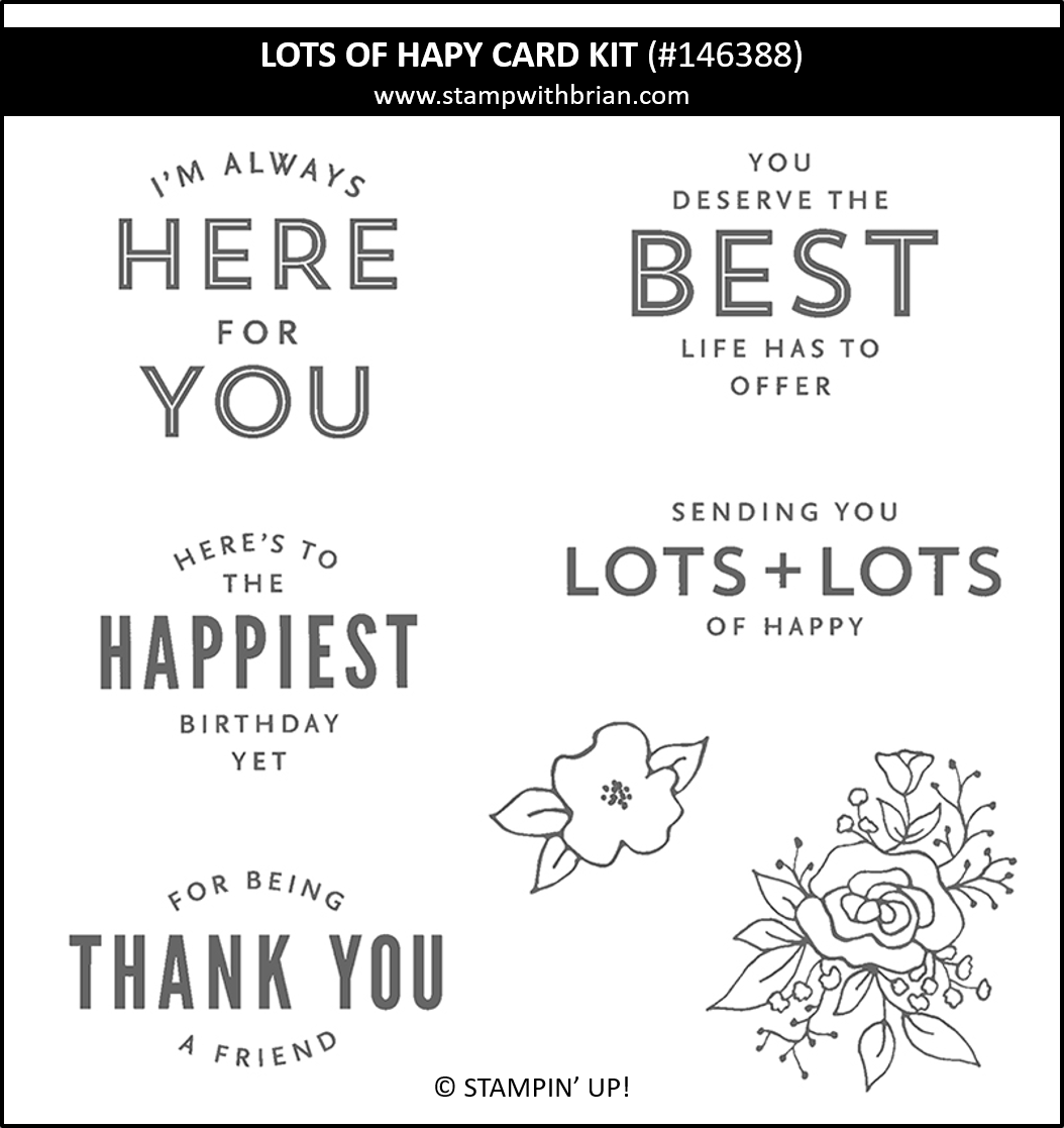 Lots of Happy Card Kit, Stampin Up! 146388 stamp set
