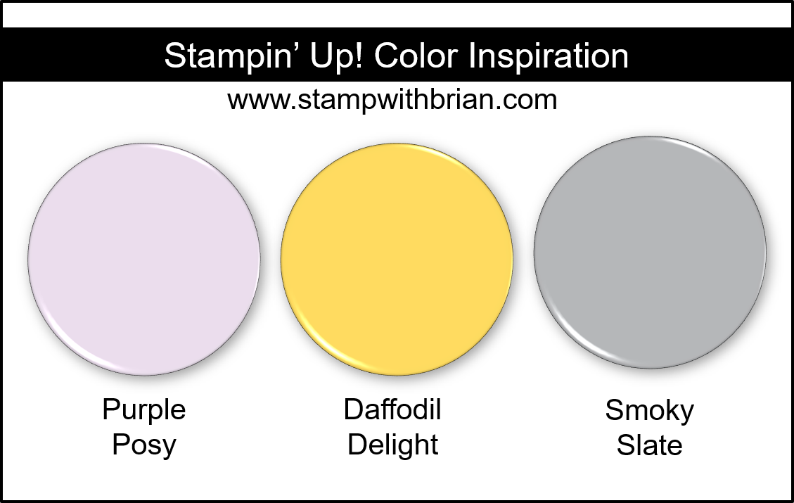 Stampin Up! Color Inspiration - Purple Posy, Daffodil Delight, Smoky Slate