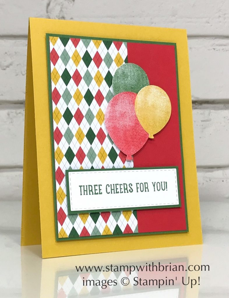 Three Cheers Project Kit, Above the Clouds, Balloon Bouquet Punch, Stampin Up!, Brian King