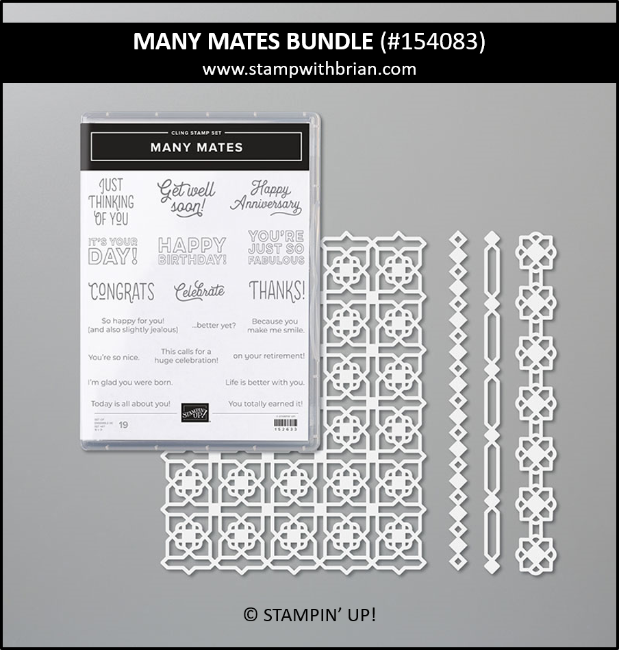 Many Mates Bundle, Stampin Up! 154083