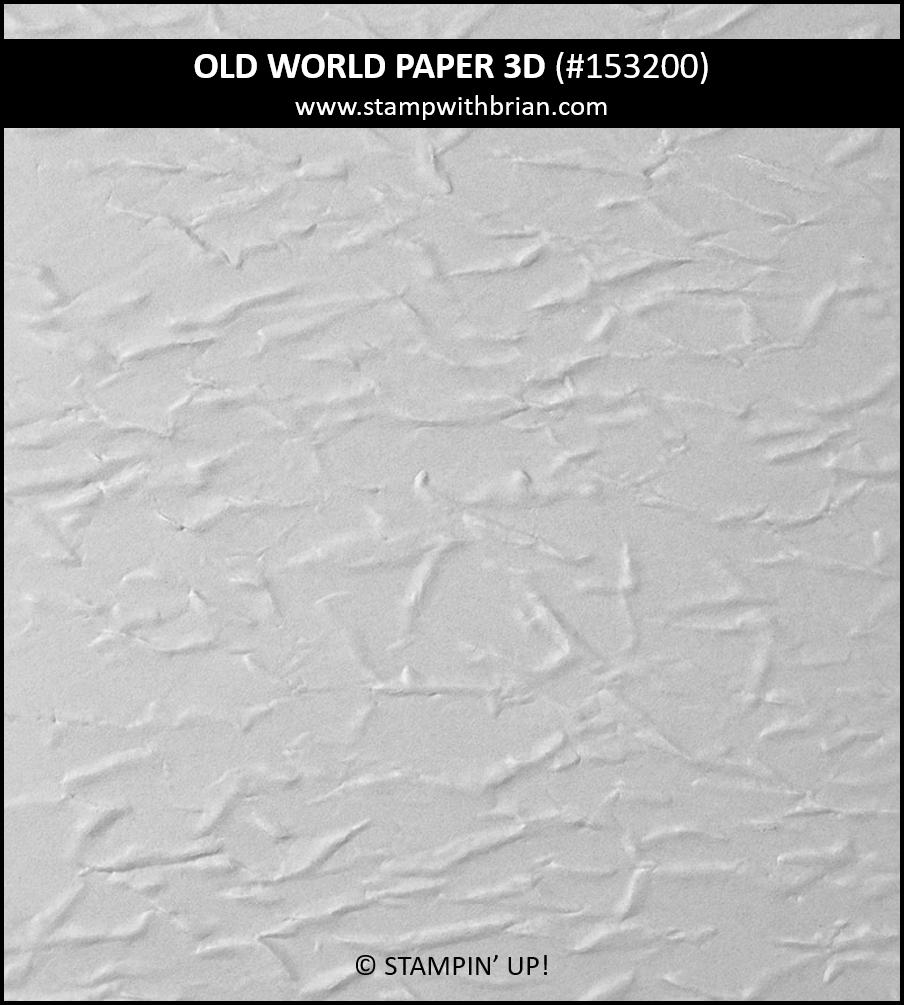 Old World Paper 3D Embossing Folder, Stampin Up! 153200