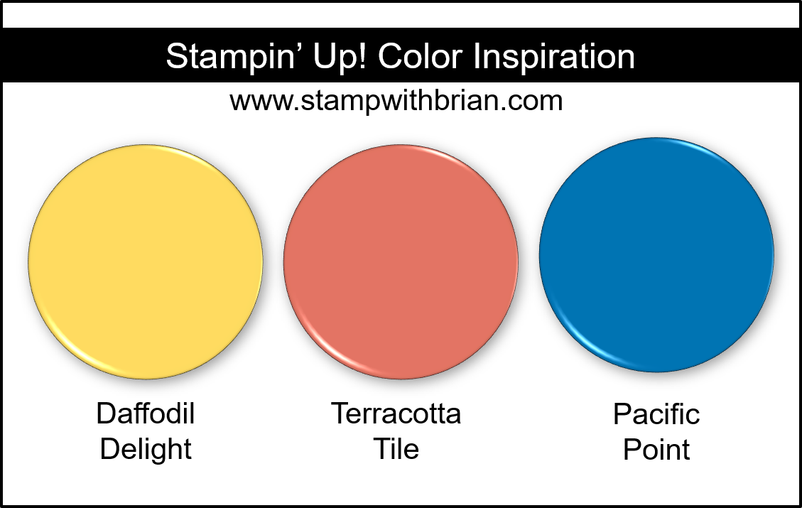 Stampin Up! Color Inspiration - Daffodil Delight, Terracotta Tile, Pacific Point