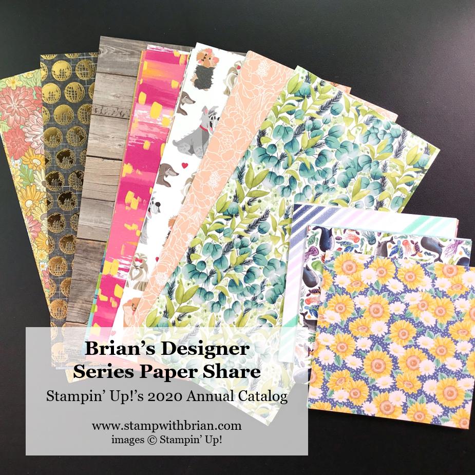 Brian's Designer Series Paper Share - 2020 Annual Catalog