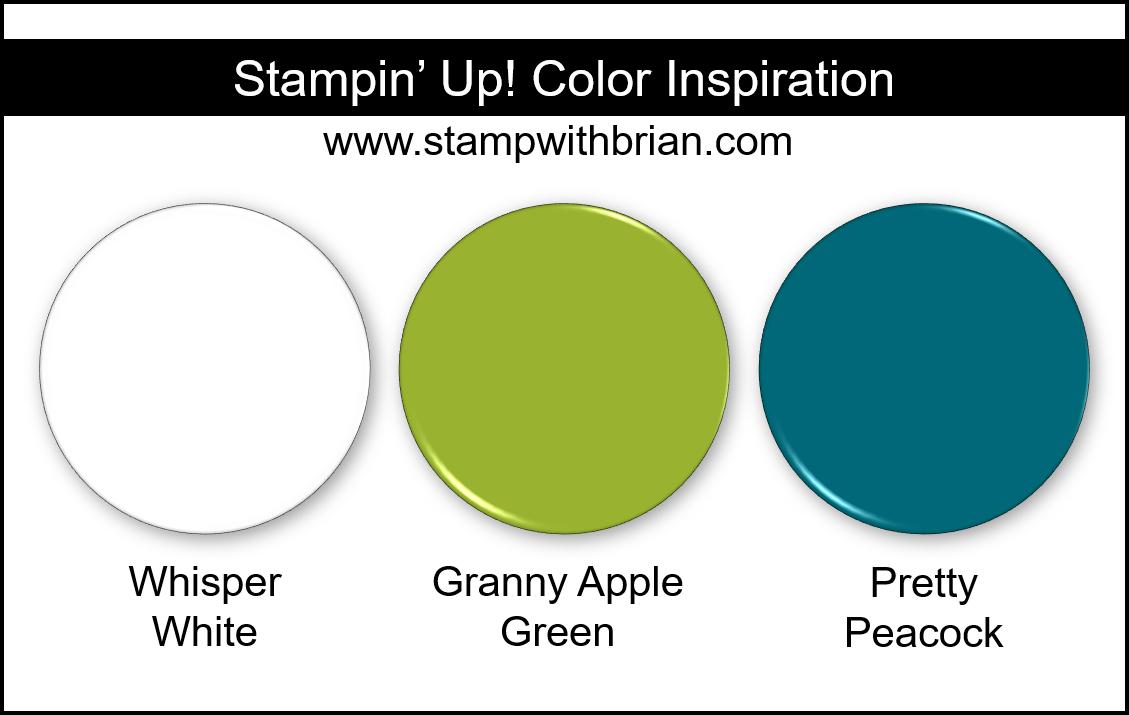 Stampin' Up! Color Inspiration - Whisper White, Granny Apple Green, Pretty Peacock