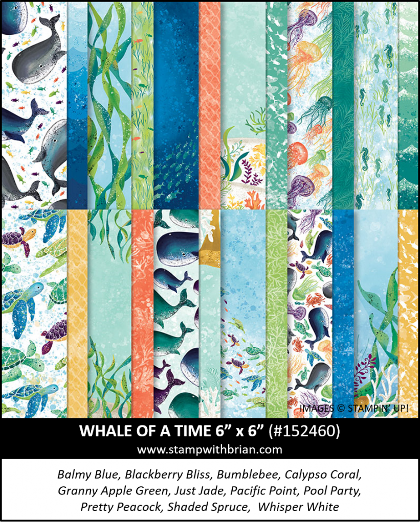 Whale of a Time Designer Series Paper, Stampin Up! 152460